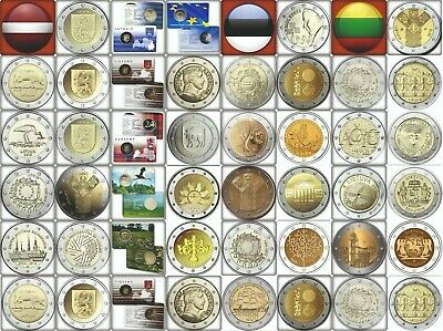 € Latvia Estonia Lithuania 2 Euro Commemorative Coins All Years All Variations €