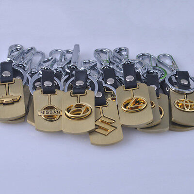 Gold 3D Metal Keychain Car Logo Keyring Gift Key Chain Ring Accessories