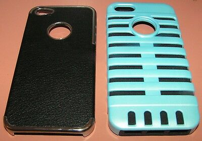 Lot of 2 hard shell cases for Apple iPhone 5/5s/SE, 1 ultra thin, 1 Hybrid, NEW