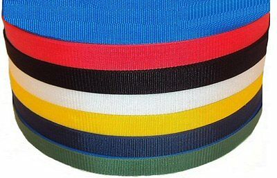 "50 meter x 40mm colour Polypropylene 1 1/2"" Webbing"