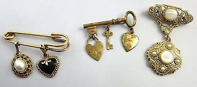 Group of Three Vintage Pins, Brooches
