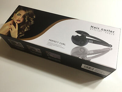 black  LCD Automatic Ceramic Hair Curler Lockenwickler Hairstyler LockendreheB