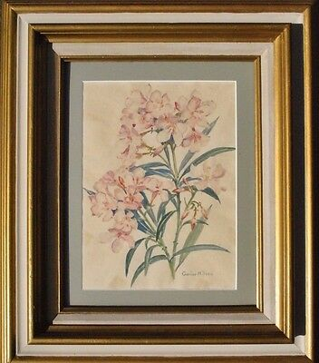 Texas Original Listed Artist Gurine Nilsen Vintage Floral Painting Watercolor