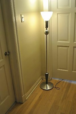 Great Art Deco Chrome Floor Lamp Machine Age Saturn Globe Mid CenturyModern