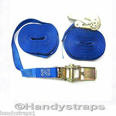 Ratchet Straps Tie Down 70 x 25mm ENDLESS 5 Meter Blue 800kg Handy Straps