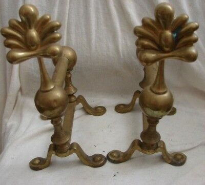 Vintage Antique Fire Dog Andirons