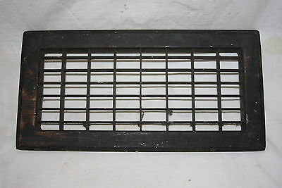 "Vintage Cast Iron Cold Air Return Floor Grate 14"" by 7"""