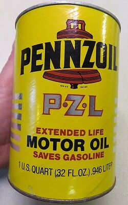 Vintage Pennzoil Motor Oil Can Coin Bank