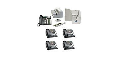 Nortel Business 4x16 Phone System Package with 6 phones, 1 cordless Phone and VM