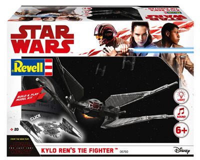 Revell 06760 Star Wars The Last Jedi Kylo Ren's Tie Fighter (Build And Play)