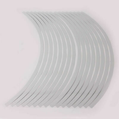 16 Strip 17 inch to 19 inch Reflective Motorcycle Rim Stripe Wheel Decal Sticker