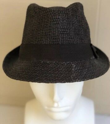 FEDORA HAT 100% Straw by Daniel Cremieux in Natural Off White- L XL ... 667550bb0455