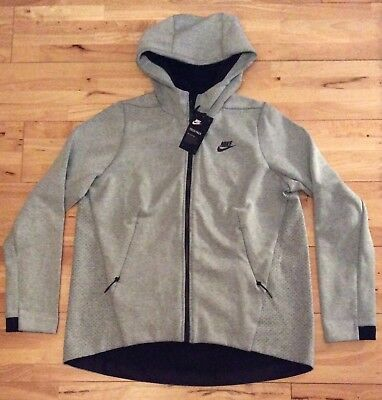 62f44d828ea3 Nike Tech Fleece Women s Full Zip Hoodie Jacket 831709-411 Grey Heather  Small