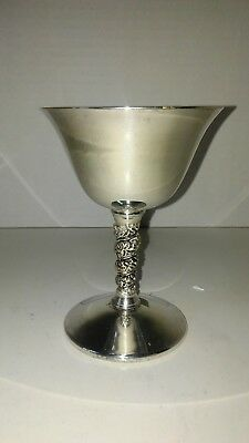 Vintage Valero Silver Plated Wine Goblet Made In Spain
