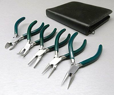"""5 Pc JEWELERS PLIERS SET JEWELRY MAKING BEADING WIRE WRAPPING HOBBY 5"""" PLIER ..."""