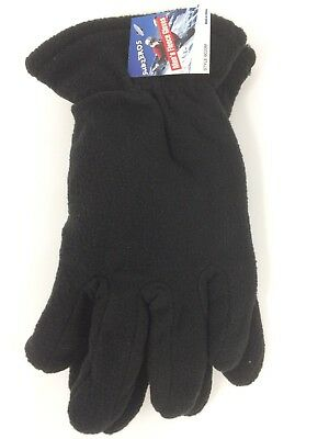 Super Comfortable Men's Winter Sport Fleece Lined Gloves solid color Medium size