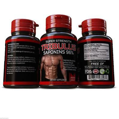 TRIBULUS TERRESTRIS PILLS 7500mg SAPONINS BIG MUSCLE TESTOSTERONE SYDNEY STOCK