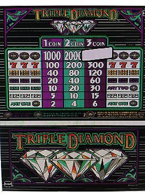 IGT S-Plus slot machine Triple Diamond 3 coin 97 % payout Game & Reel  chip set