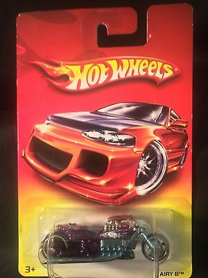 Rare 2007 Hot Wheels Wal Mart Only Red Card Lot Airy 8 Bike NEW In Package