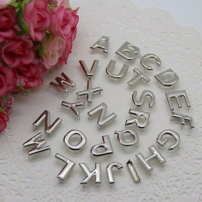 "SINGLE ALPHABET LETTERS 5/8"" (15mm) Silver Metal Spike Studs Leather Crafts"