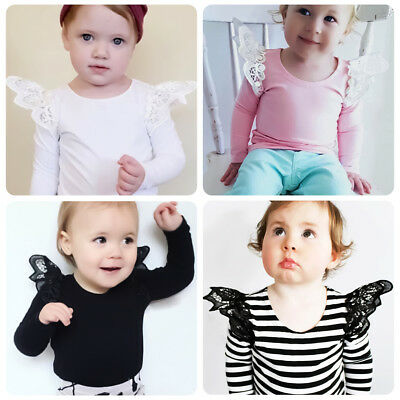 Flutter Long Sleeve Pullover Tops T-shirt Blouse for Toddler Baby Girls 6M-4Y