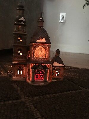 Vintage 1999 OWELL Limited Edition Stained Glass Cathedral Church Christmas Dec