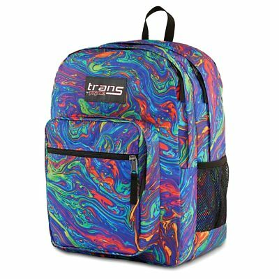 "Trans By JanSport® 17"" SuperMax Backpack Multi Color Rainbow Swirl Laptop  BEHG"