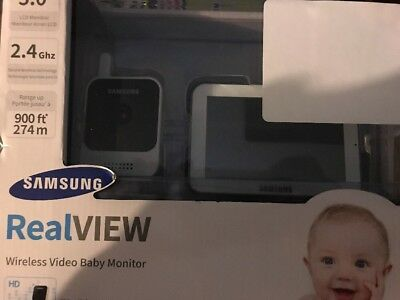 """Samsung RealVIEW 5"""" Touch Screen HD Video Baby Monitoring System, White"""