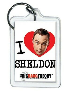 "The Big Bang Theory I Heart Sheldon Lucite Keychain 2 1/4"" x 1 1/2"""