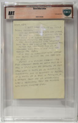 STEVE DITKO SIGNED LETTER CBCS Verified Signature Program Original Artwork