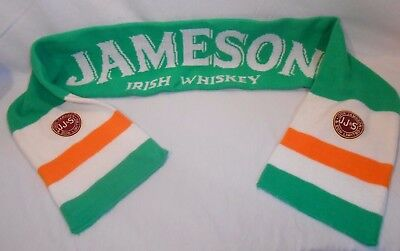 Jameson Double Sided Winter Scarf Irish Whiskey JJ&S Patches