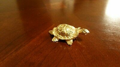 Old Antique Vintage Metal Cast Brass? Small Turtle