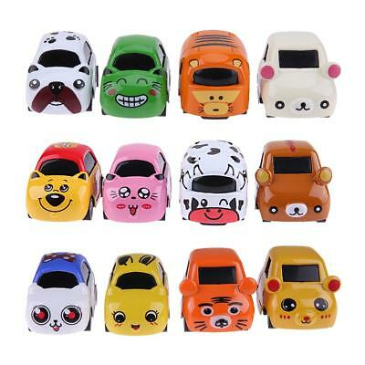 4pcs Mini Cartoon Alloy Car Model Toy Baby Kids Gift Educational Learning Toys