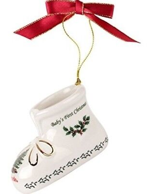 Spode Christmas Tree Baby's 1st Christmas Bootie Collectible Ornament  - NIB