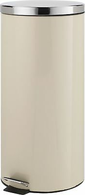 HOME 30 Litre Kitchen Pedal Bin - Cream.