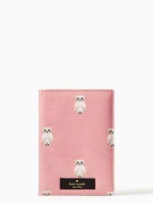 KATE SPADE PASSPORT HOLDER! Daycation Paint Owl NEW WITH TAGS! :)