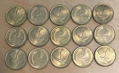 Chile 1970 2 Centimos; KM-193; UNC; Lot of 15 (lot 122)