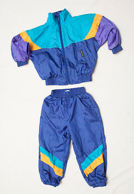 Vintage Members Only TrackSuit Childrens Girls Boys  VTG purple yellow 80's Sz 4