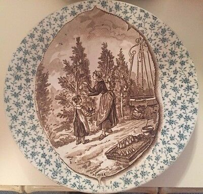 Antique/Rare German Wall Plate, Vintage Item from 1920's, hand painted - MINT