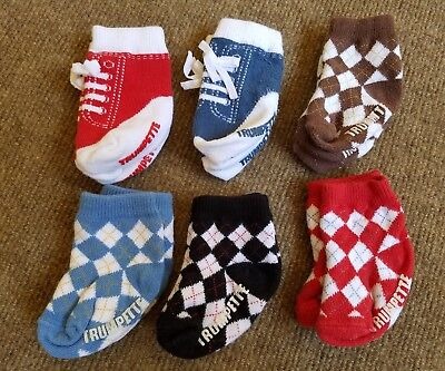 Trumpette Baby Newborn Boys Sock Set 6 Pairs Johnnys Assorted Colors 0-12 Months