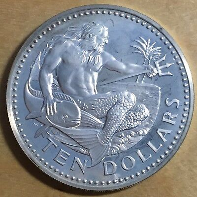 Barbados 1981 10 Dollars; KM-17a; Proof - Mintage only 835 (#cr108)