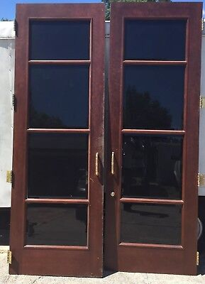Large Storefront Commercial Cherry And Brass Entry Way Front Doors
