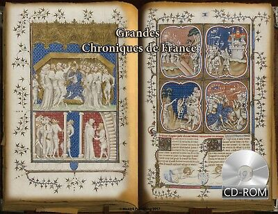 Grandes Chroniques de France 1377 AD Illumination Manuscripts Incubulla