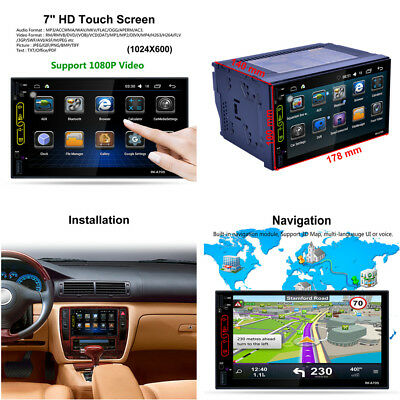 """7"""" 2 DIN Android 6.0 FHD TFT Car Radio  MP5 Player Built-in Wifi GPS Navi FM/RDS"""