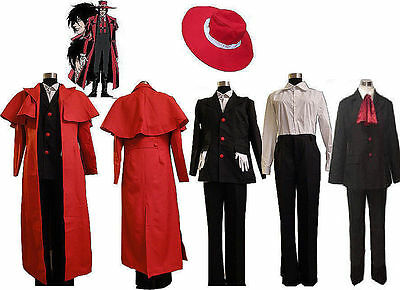 Hot Sell! NEW Hellsing Alucard Cosplay Costume Set Vampire Hunter