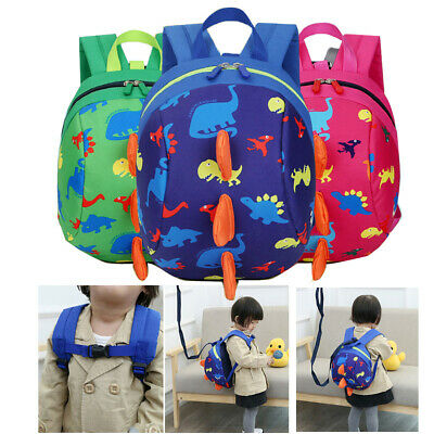 Walking Safety Harness Toddler Leash Anti-lost Package Dinosaur Cartoon Backpack