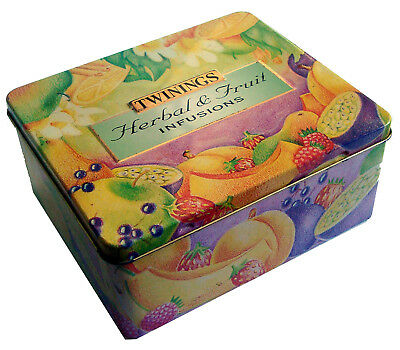 TWININGS TEA COLLECTOR'S TIN - Herbal and Fruit Infusions Tea Empty Tin