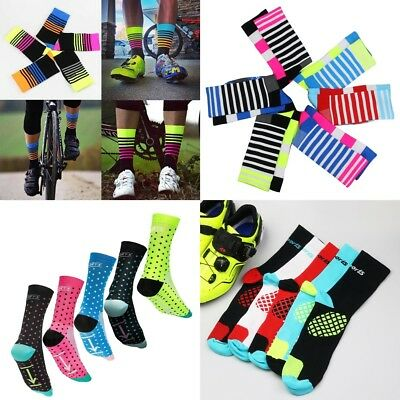 Riding Cycling Socks Breathable Sport Running Bicycle Ankle Socks Mens Womens A+