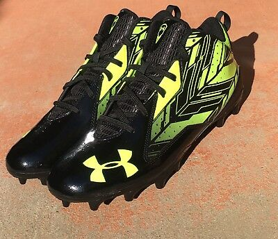 New Under Armour Ua Ripshot Mid Mc 1264191-007 Lacrosse Football Cleats Size 11