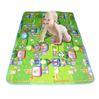 Kids Crawling Educational Game Play Mat Soft Foam Picnic Carpet 120X180Cm